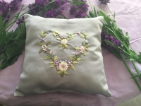 Lavender Embroided Cushion